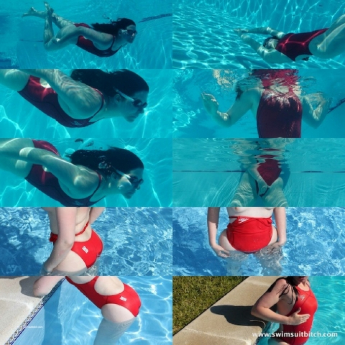 Red Fastskin XT in the pool