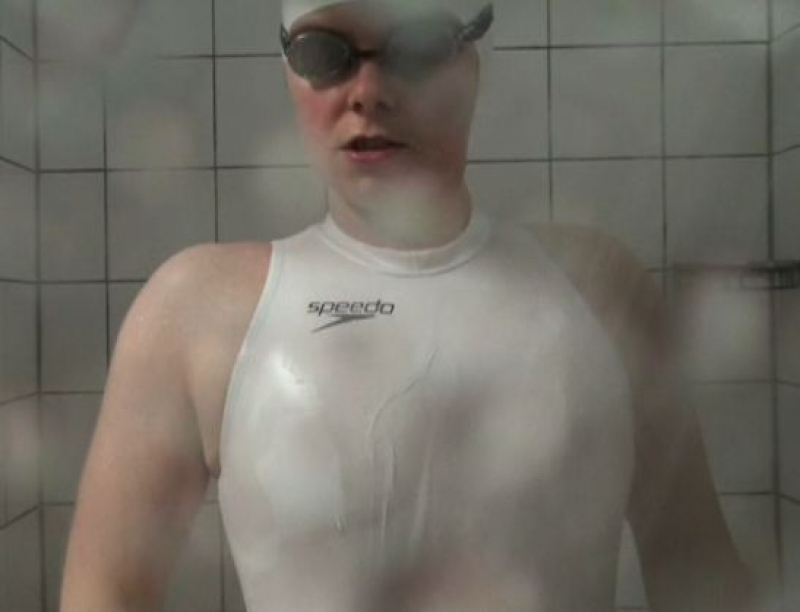 White Speedo S2000 Latex Waterpolo Swimsuit