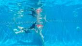 Arena Metallic Swimsuit ****ed in the pool