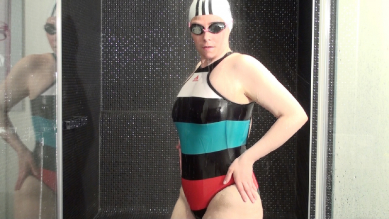 Hands on the Adidas Swimsuitbitch in the shower