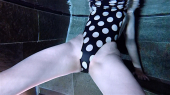 Polka Dot High Cut Swimsuit for Sex Dates