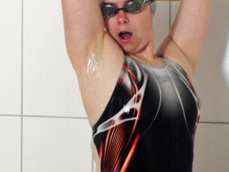 Speedo Skeleton Fastskin EX under shower